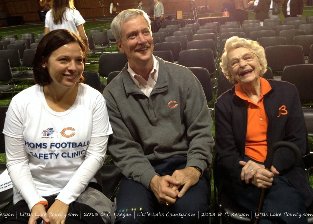 McCasky Family, Chicago Bears Moms Football Safety Clinic
