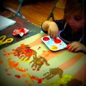 Finger Painting at Artsy Tots