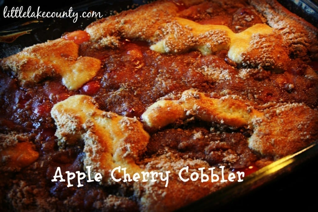 apple cherry cobbler recipe