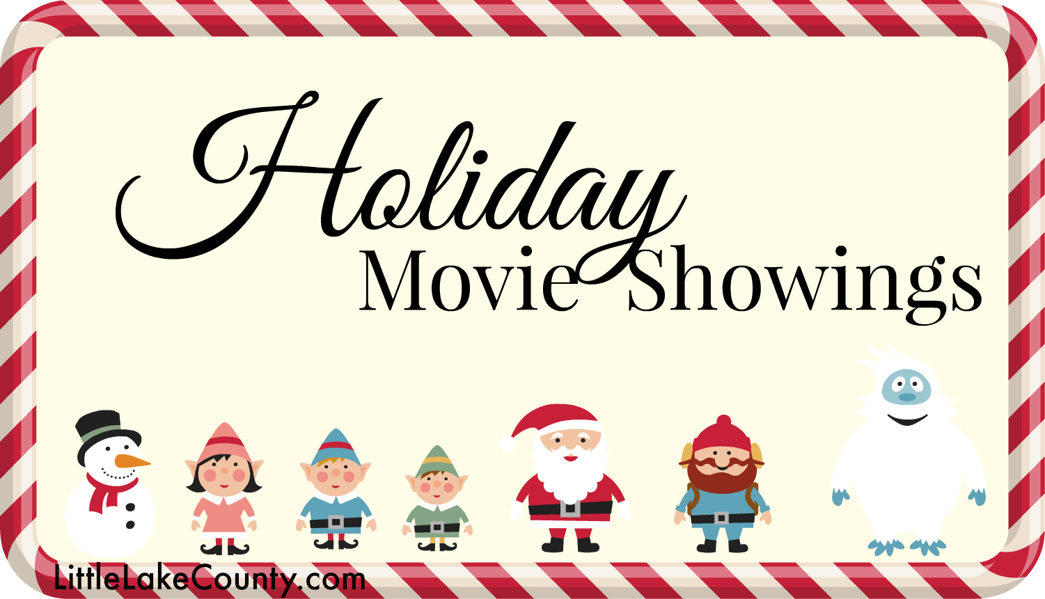 HOliday Movie Showings in Lake County