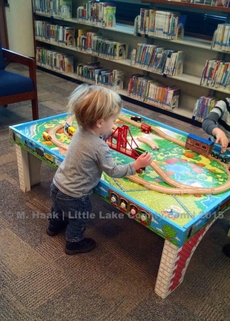 Train Table At Grayslake Library