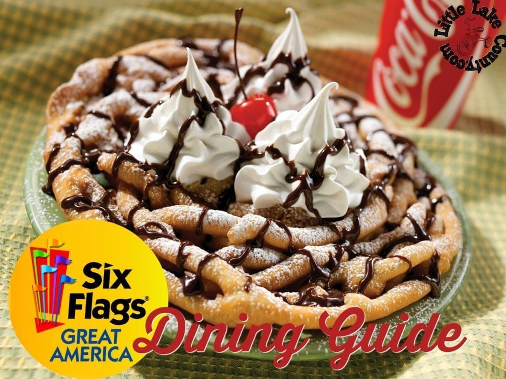 dining guide to six flags great america