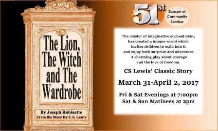 kirk players, the lion witch and wardrobe