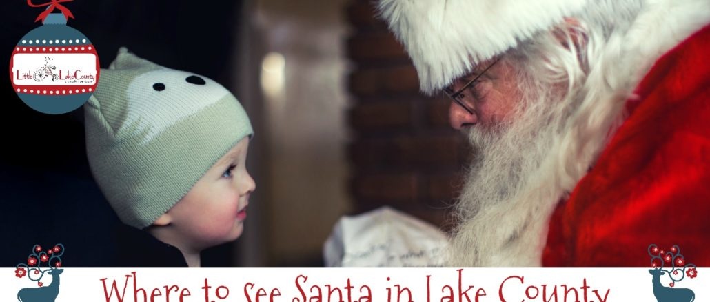 where to see santa in lake county
