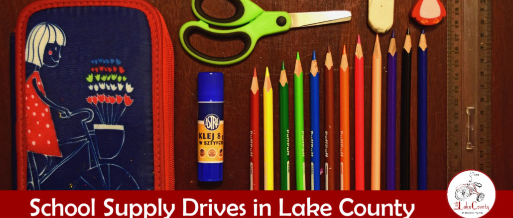 school supply drives in lake county