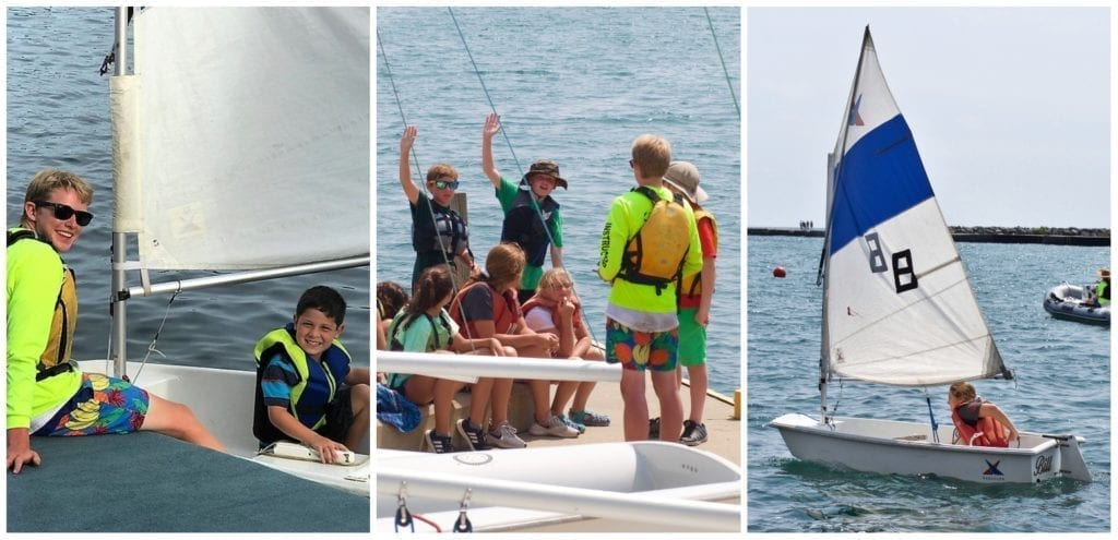 active summer camps in lake county, WYC youth foundation jr. sails camp